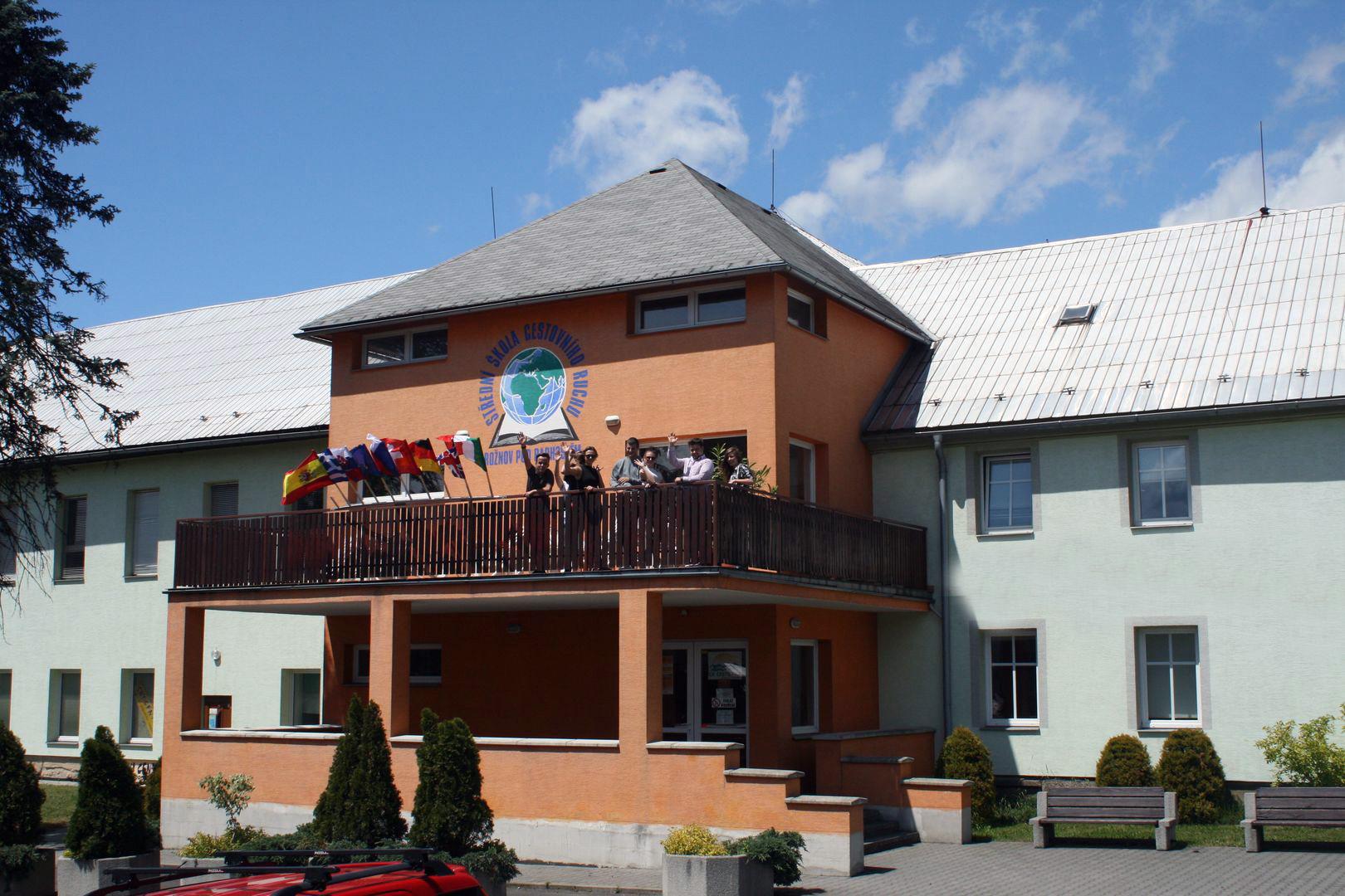 Budova školy SŠCR Rožnov pod Radhoštěm