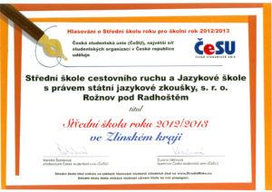Diplom-nejlepší škola 2012/2013