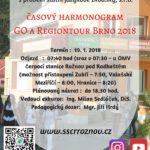 časový harmonogram Go a Regiontour Brno 2018